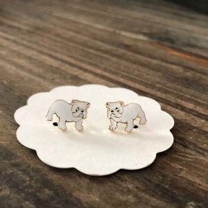French Bulldog Enamel Earrings